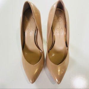 Jessica Simpson Platform Heels Tan Pointed Toe 8.5